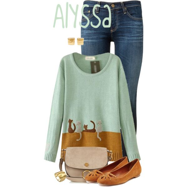 Alyssa by alyssa-eatinger on Polyvore featuring moda, AG Adriano ...