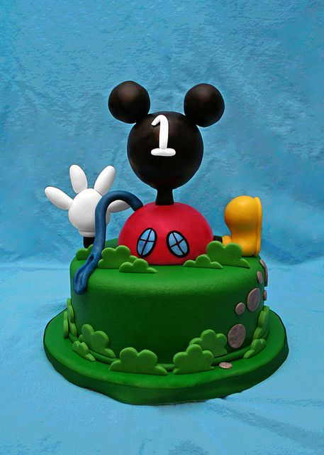Mickey Clubhouse by Whimsy Cakes, via Flickr