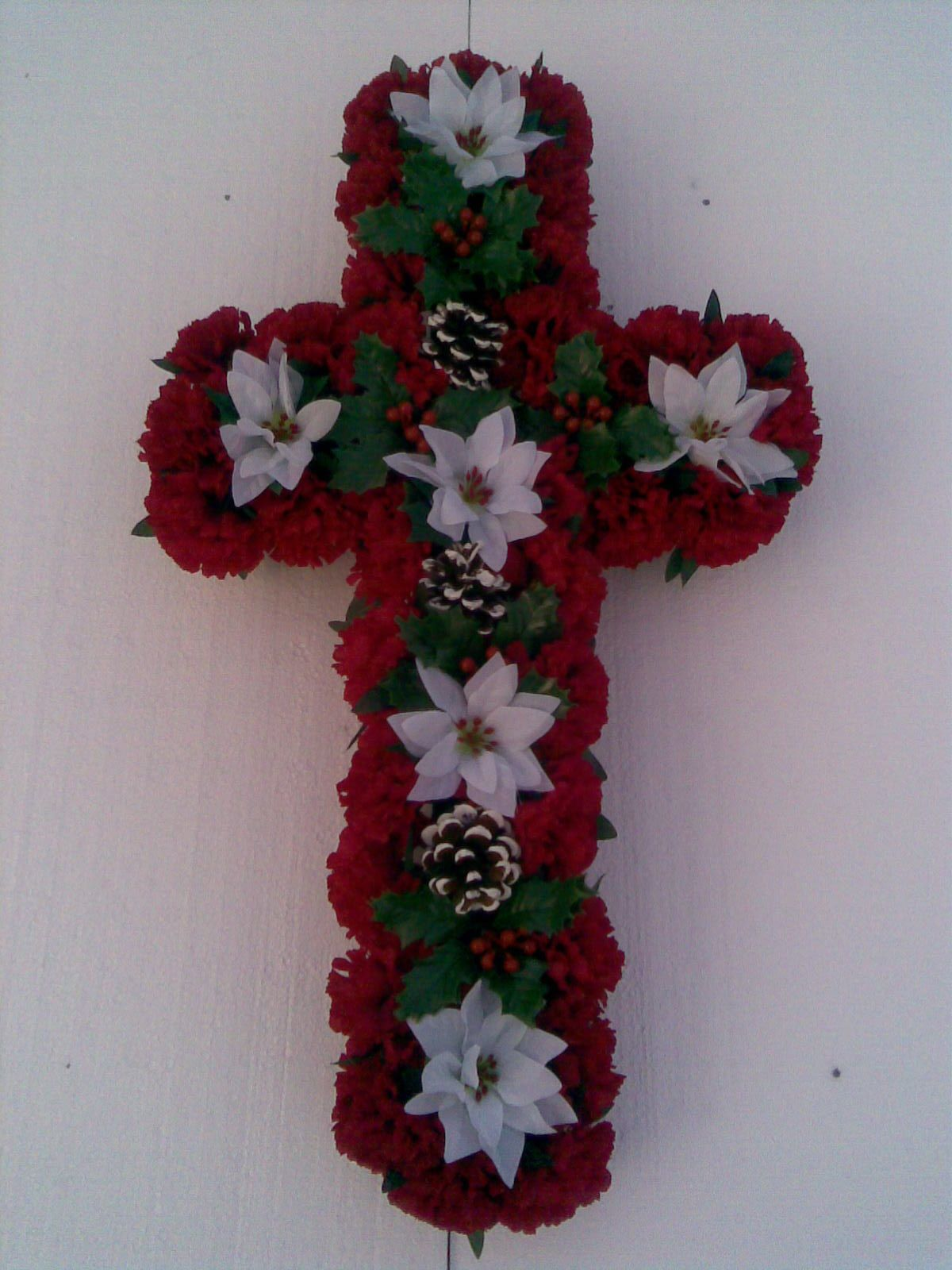 Diy Wreaths For Graves - Made On A 24 Base,