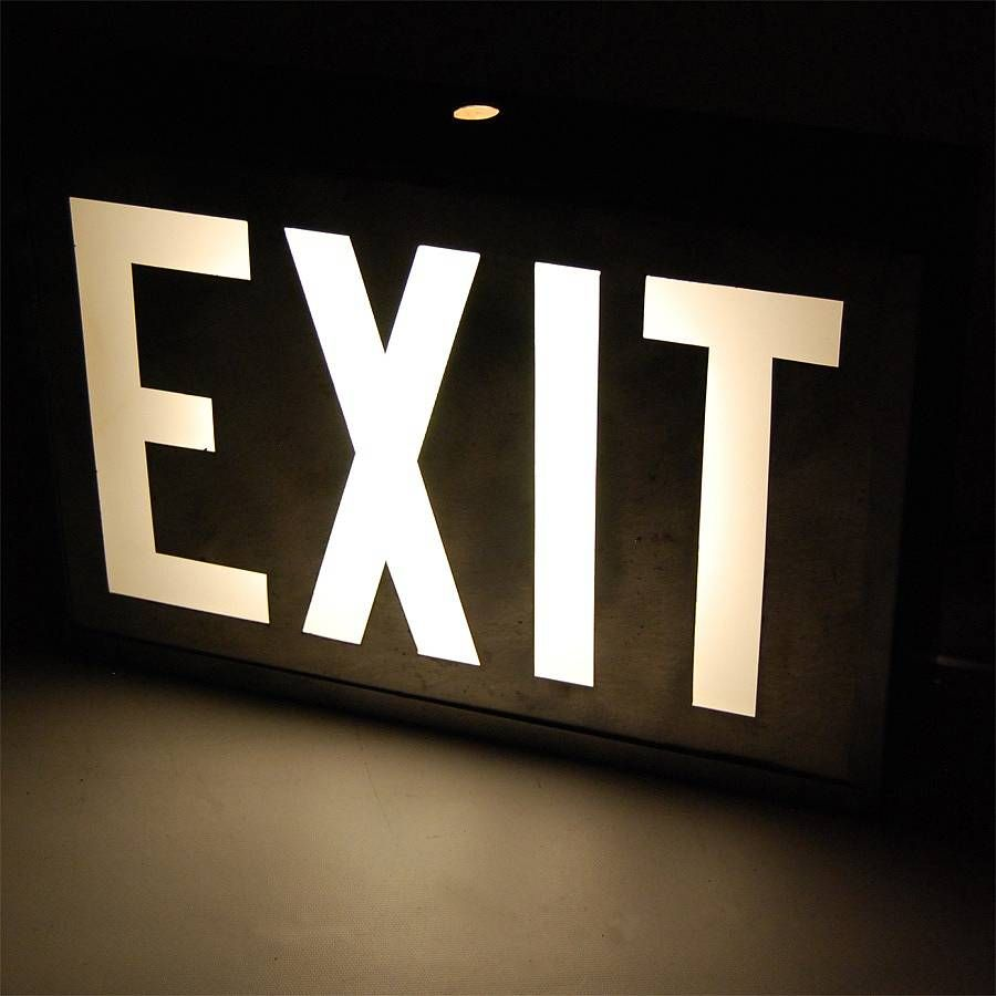 Vintage Cinema Exit Sign   Exit sign, Light up signs, Cinema
