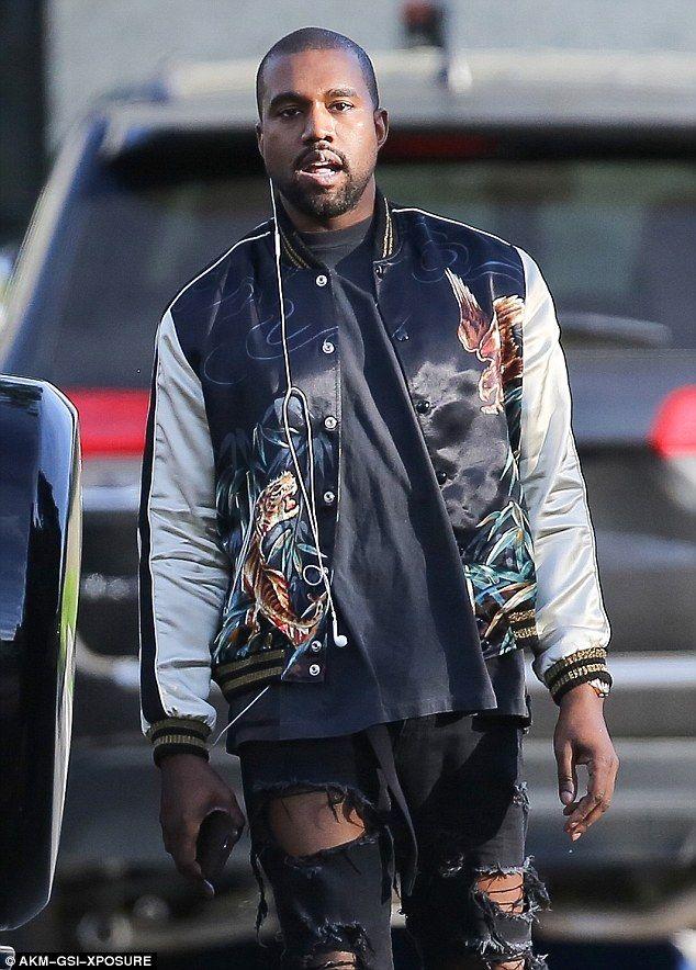 Kanye west black jacket