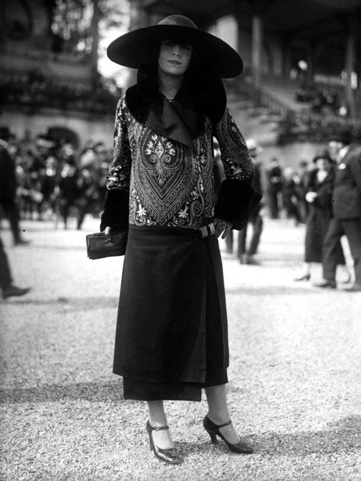 France. Wide Brimmed Hat, Urban Streetwear, Paris, 1920s