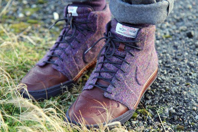 Harris tweed, Nike free shoes