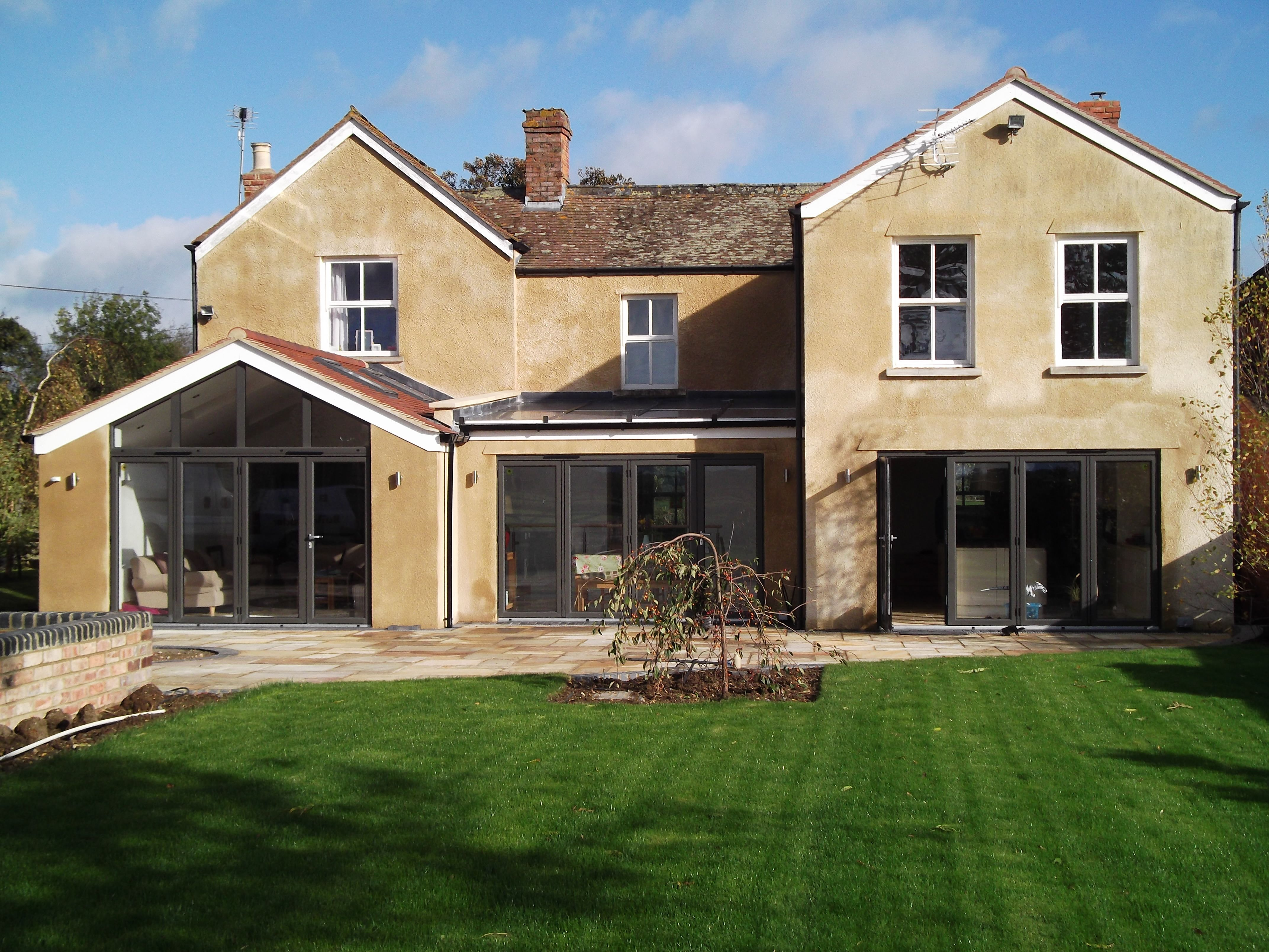 Single storey extension with glass feature roof. | Single storey ...