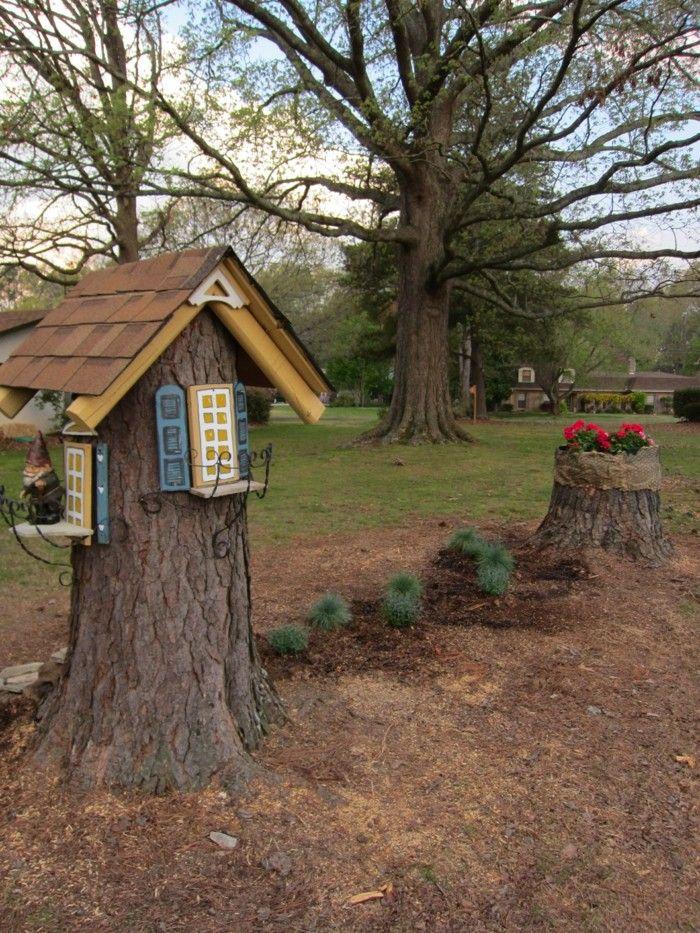 Gartendeko Basteln Naturmaterialien 35 Beispiele Wie Sie Den Garten Aufpeppen Garten Deko Whirlpool Garten Baumdeko