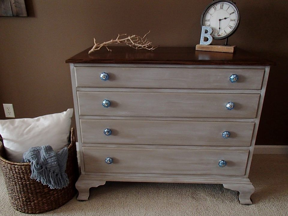 This lovely dresser was finished in Coco and Pure White Chalk Paint
