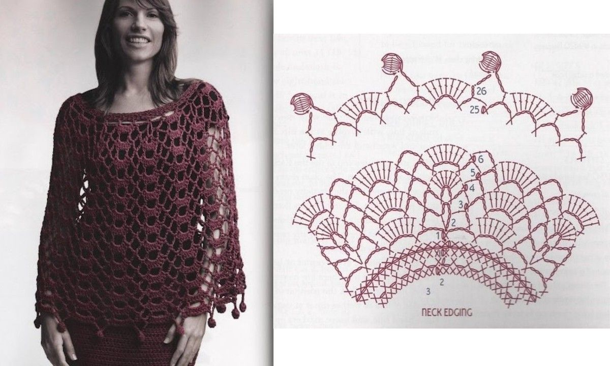 Stoles and ponchos: models and grids to print! - Hook Passion ...