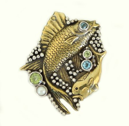 poseidon large statement ring with gemstones by mars and valentine - Mars And Valentine