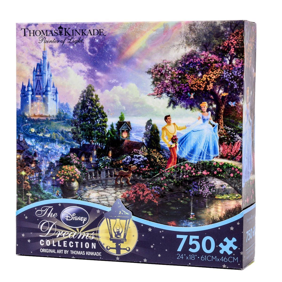 disney thomas kinkade cinderella wishes upon a dream 750 pcs puzzle new with box