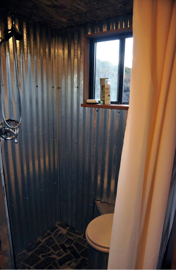 Love This Corrugated Metal In The Bathroom Dream House