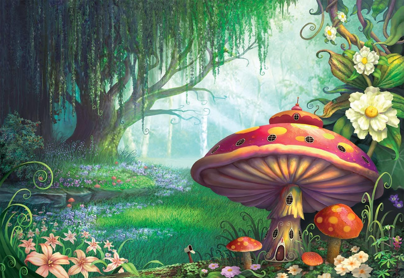 fairy forest Enchanted forest mural, Forest mural