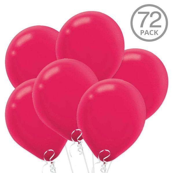 Check Out Bright Pink Latex Balloons