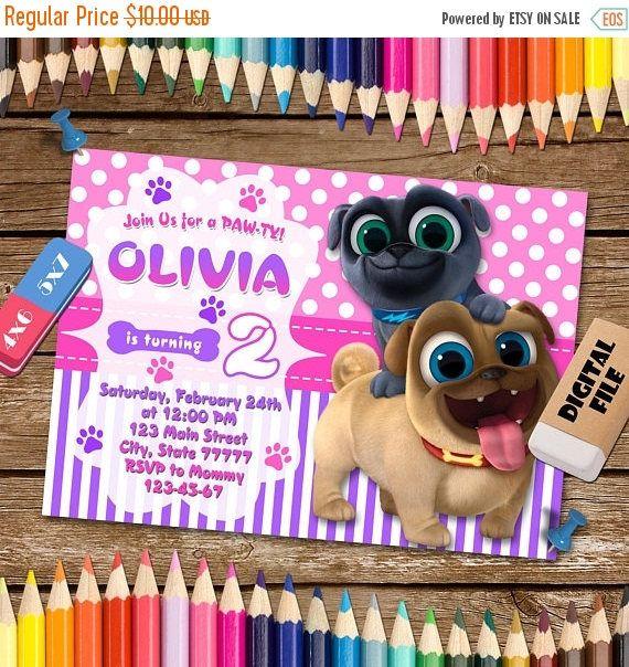 Puppy Dog Pals Invitation Puppy Dog Pals Birthday Party Puppy