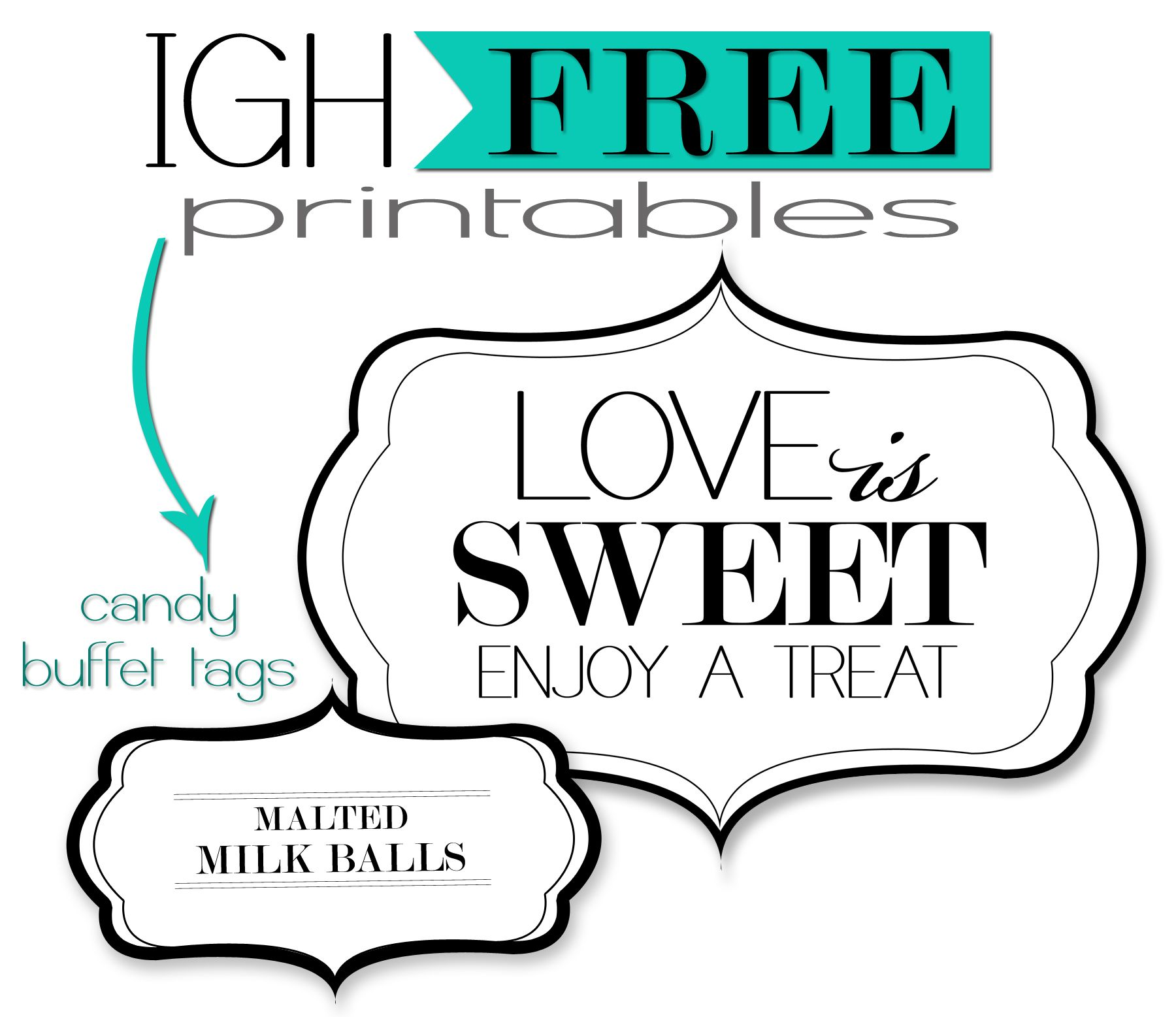 Simplicity image regarding free printable candy buffet labels