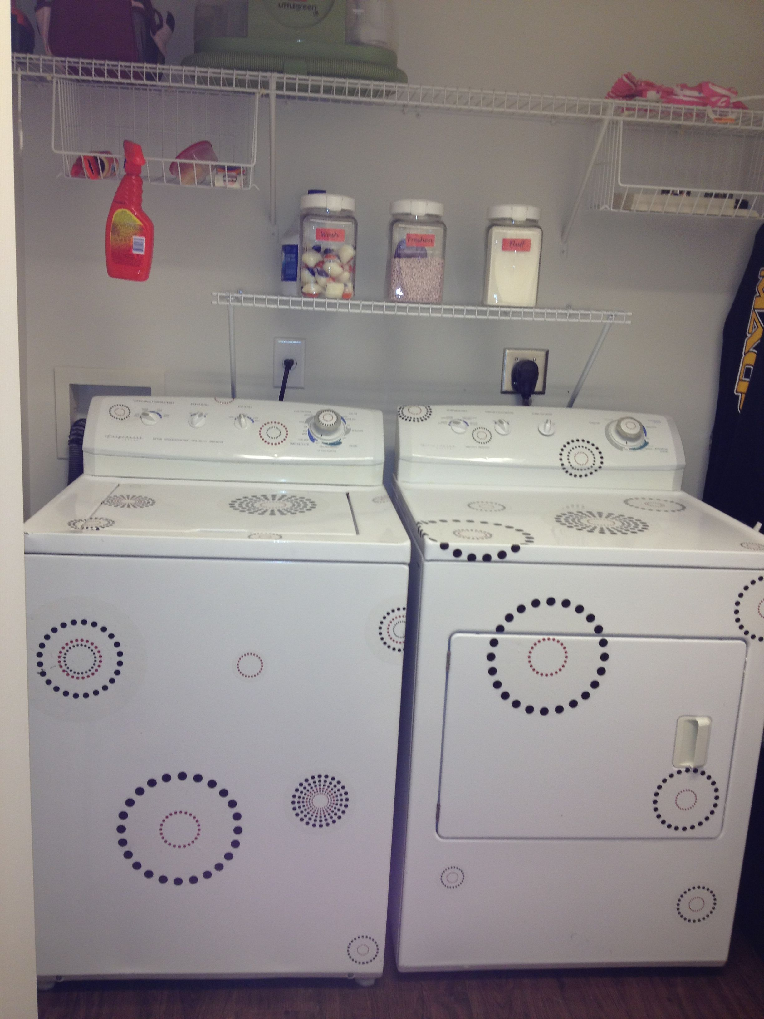 Decorate Your Washer And Dryer Using Removable Stickers From
