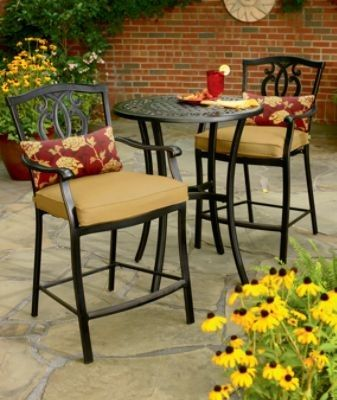 Country Living  Highland 3 Pc. High Bistro Set Outdoor Living Patio  Furniture Bistro Sets