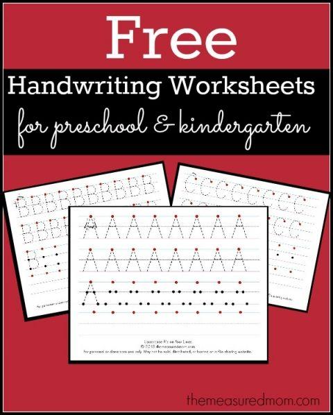 Free Printable Handwriting Worksheets for Preschool & Kindergarten ...