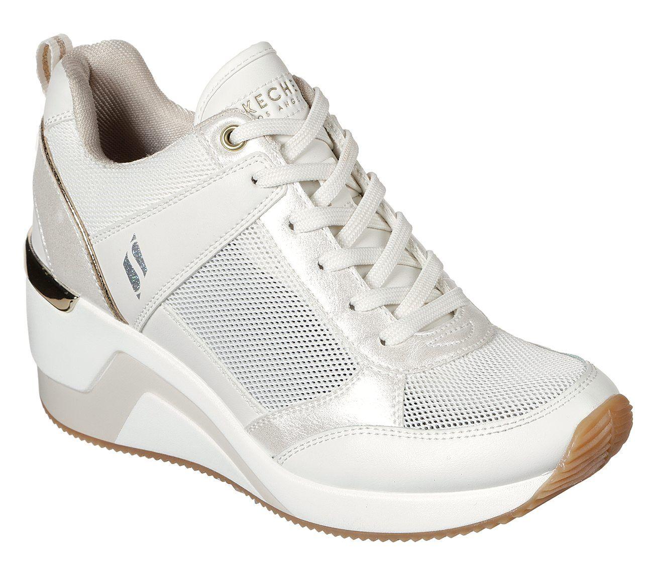 skechers wedge heel sneakers
