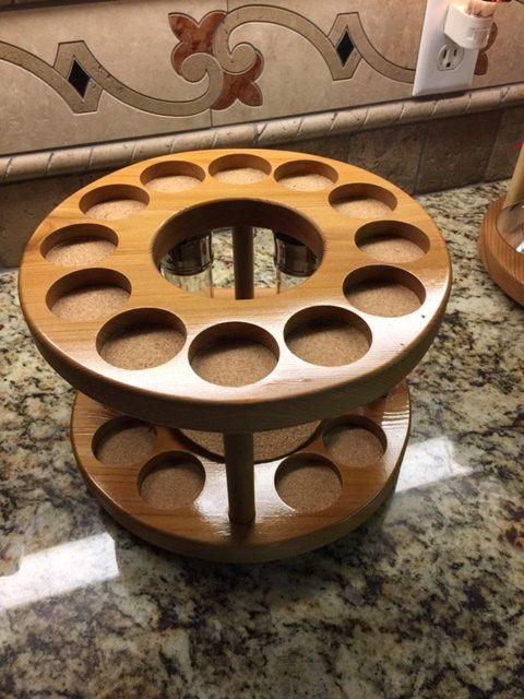 decorative spice rack lazy susan by du0026c designs