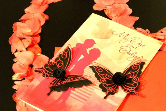 Valentines Butterflies Paper butterflies by MyDreamDecors on Etsy ...