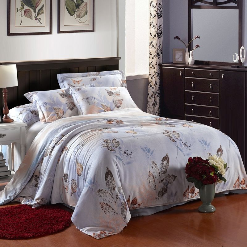 Leaf Pattern French Country Chic Bedding Sets Country