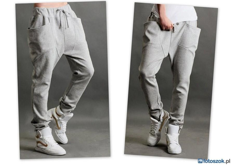 Spodnie Dresowe Alladynki Baggy Slim Rurki P831 4055965491 Oficjalne Archiwum Allegro Sweatpants Inspiration