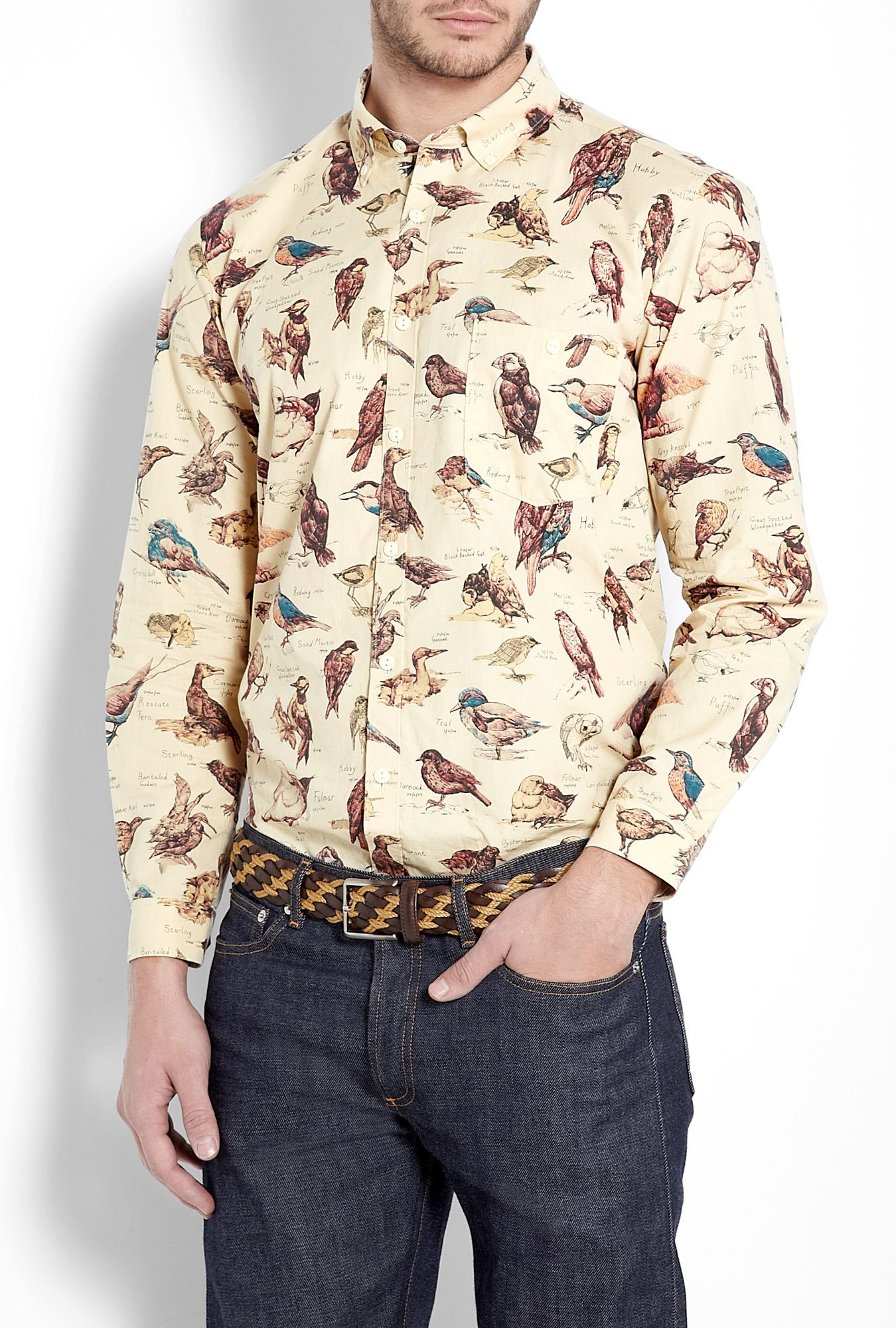 8031aff25ea Barbour Cream Bird Liberty Print Shirt in Beige for Men (cream) | Lyst