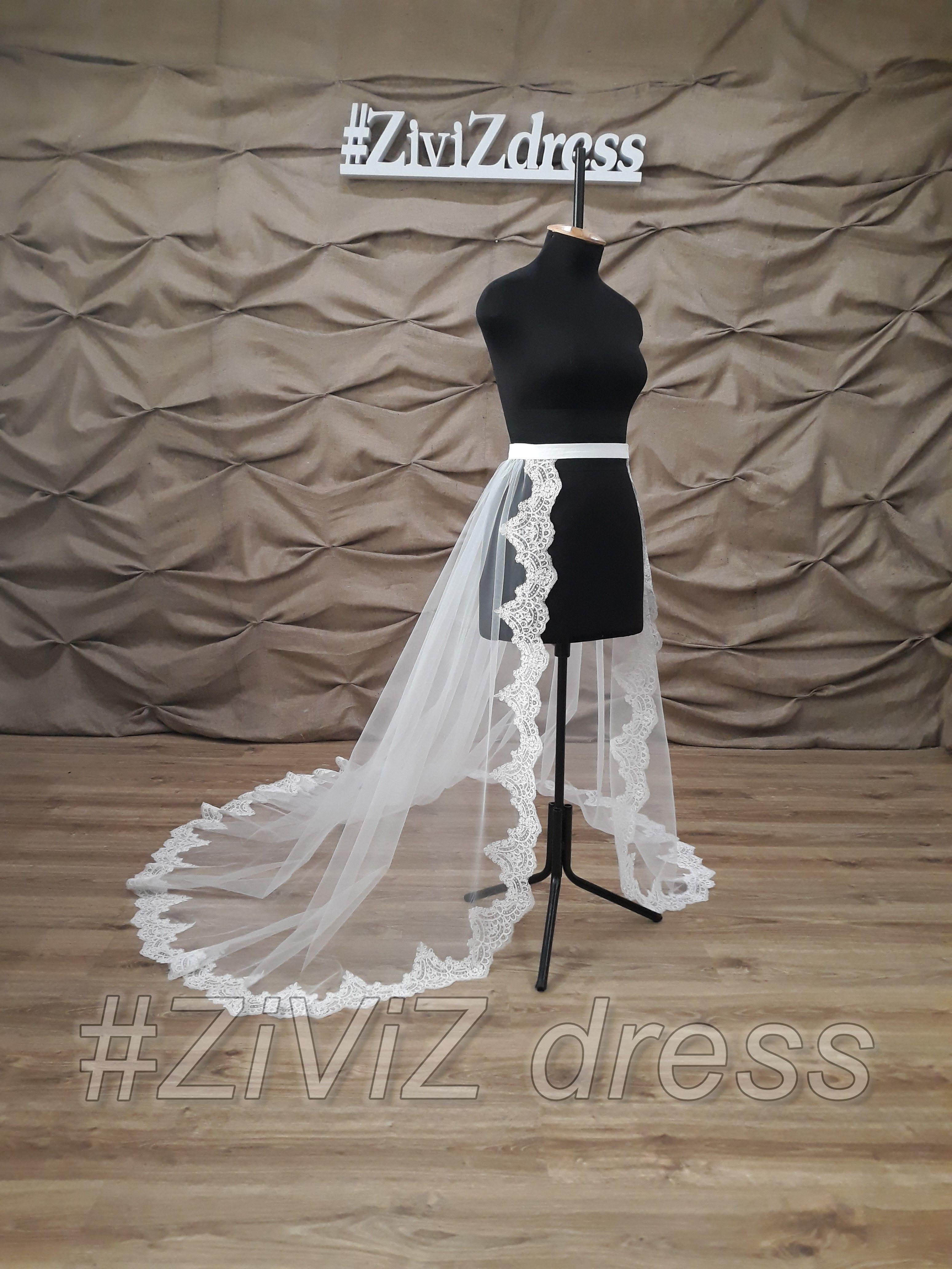 170 cm 67long back lace detachable wedding train etsy