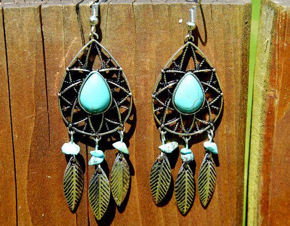 Dreamcatcher Earrings Vintage Gypsy Indian Native