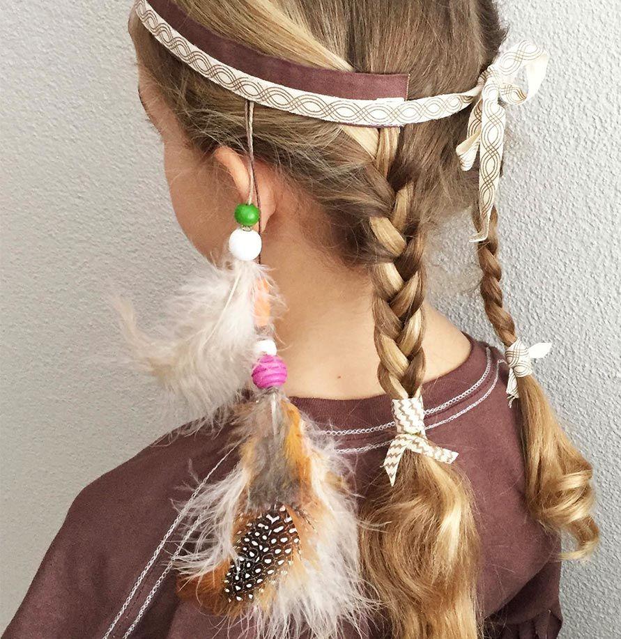 Federschmuck Indianer Kostüm  Indianer kostüm kind, Indianerin