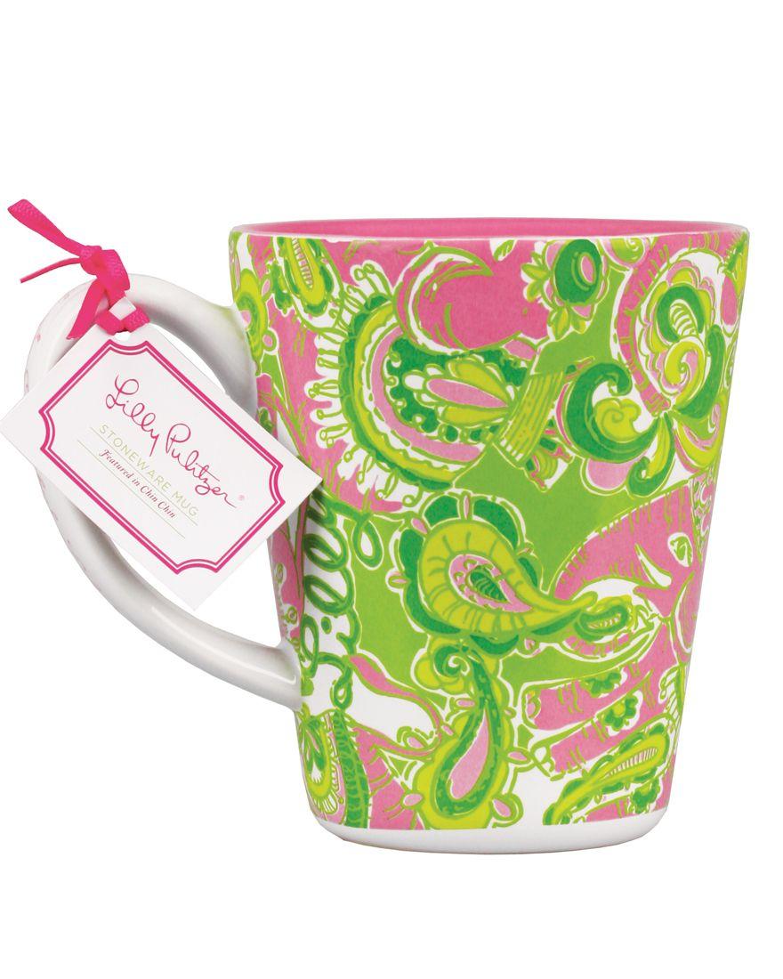Lilly pulitzer cafe lilly mug mugs stoneware mugs