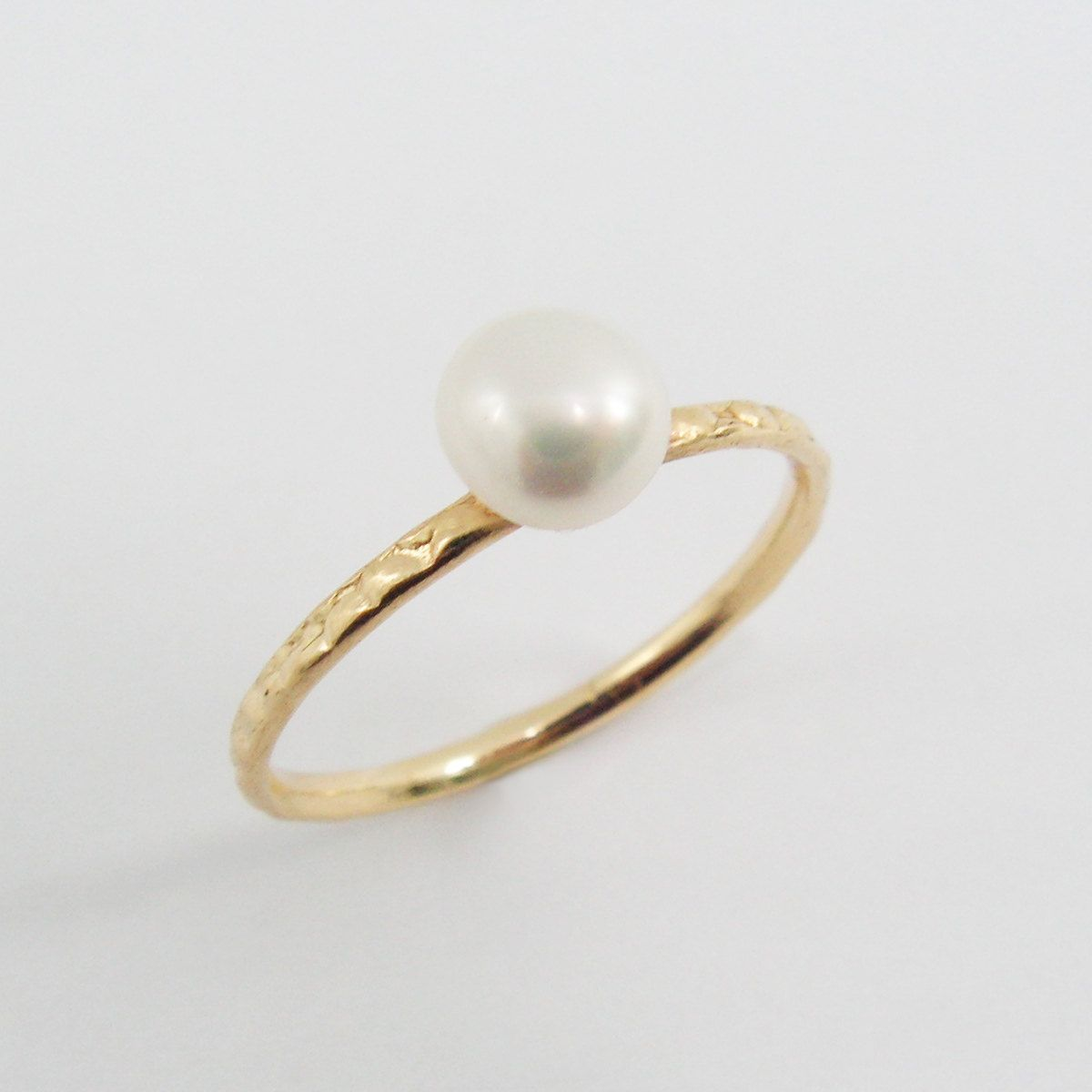 Valentine's Sale  Delicate Pearl Gold Filled Ring