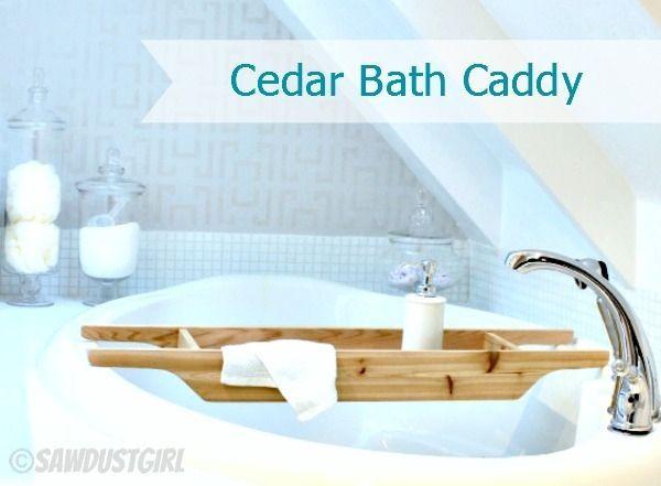 DIY Gift Ideas: Cedar Bath Caddy. I Am LOVING This  Is It