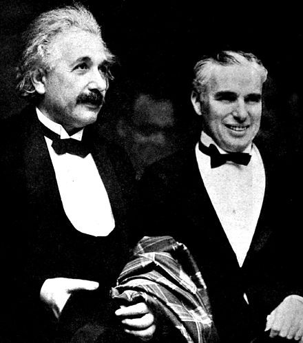 Charlie Chaplin and Einstein at the Hollywood premier of City Lights, January 1931