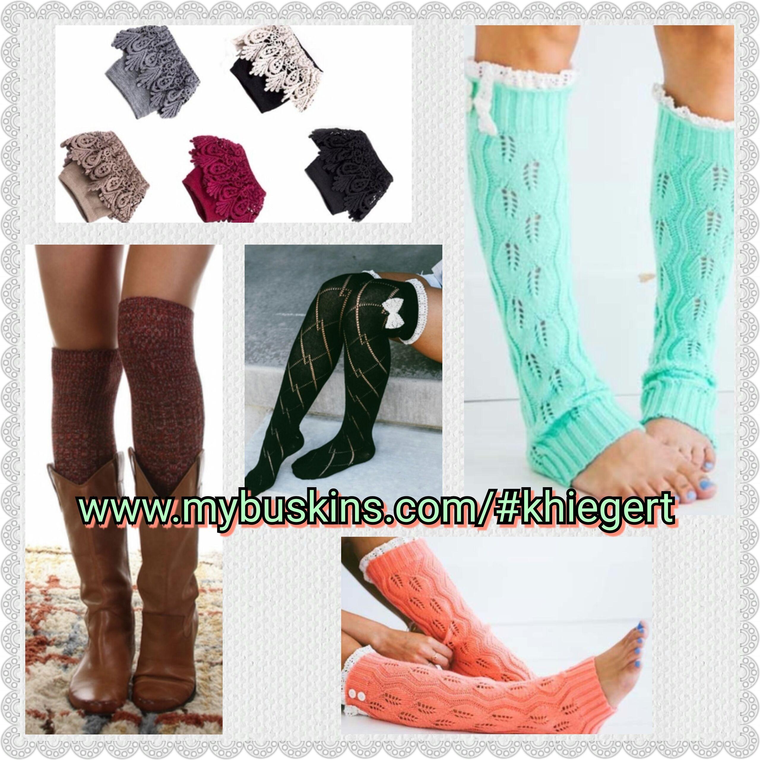 Women's boot socks and cuffs! khiegert.mybuskins.com