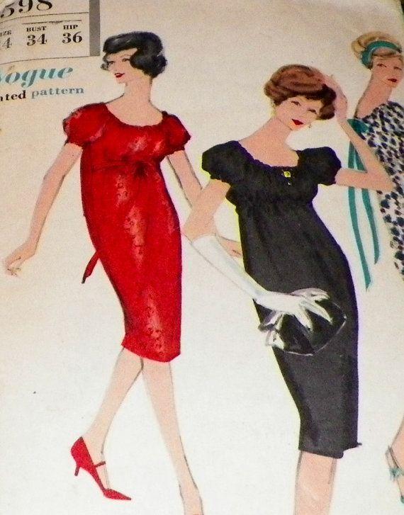 Sewing Pattern 50s Wiggle Chemise Dress By Hookandneedlepattern