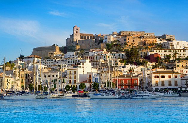 The UNESCO Listed Old Town in Eivissa  Ibiza Island    Spain     The UNESCO Listed Old Town in Eivissa  Ibiza Island
