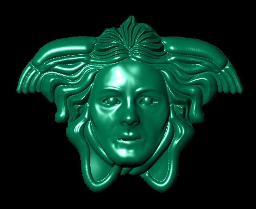 Versace Head 3d Cad Model Designers Cad Designer 3d