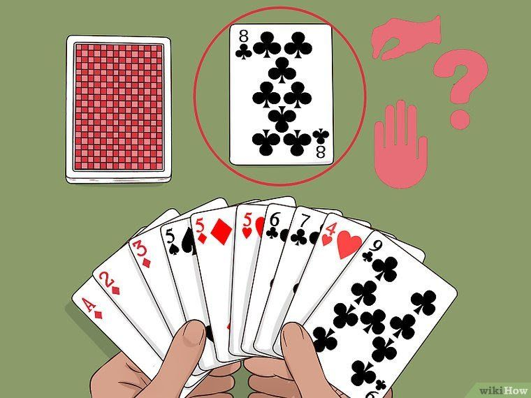 How To Play Gin Rummy With Pictures Wikihow Fun Card Games Family Card Games Playing Card Games