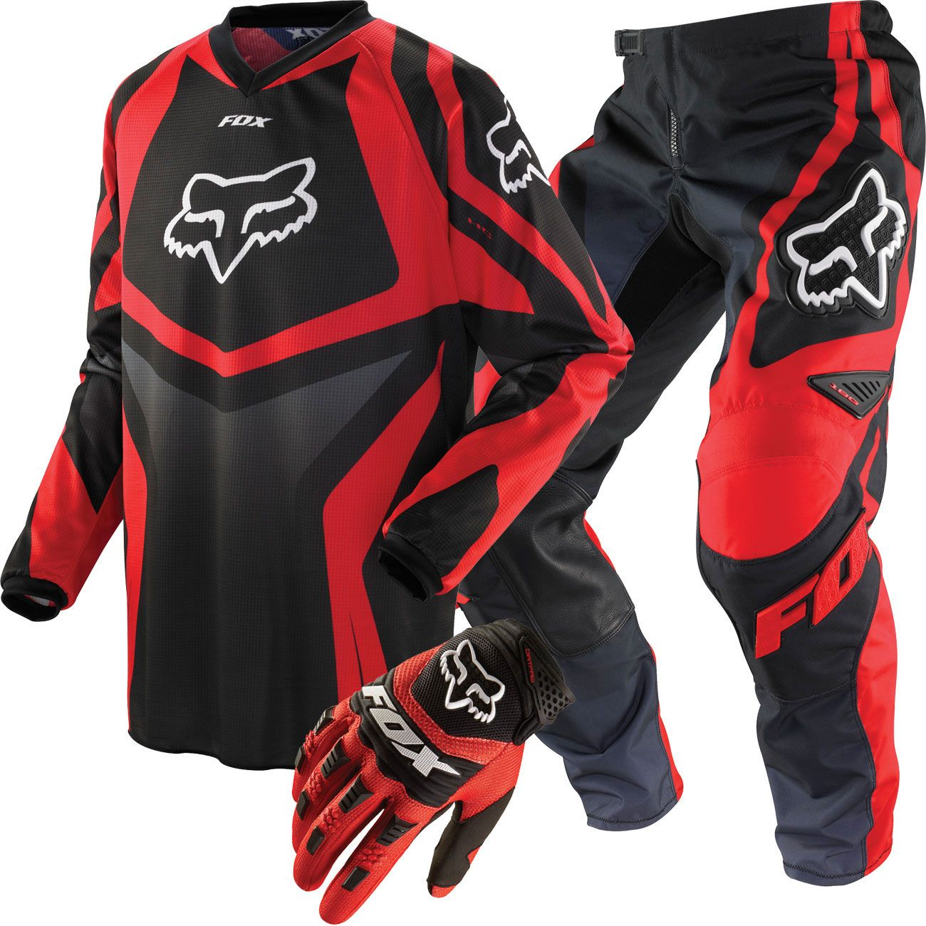 Fox Racing Hc 180 Race Youth Package Deal Black And Red Dirt Bike Clothing Youth Dirt Bike Gear Bmx Gear