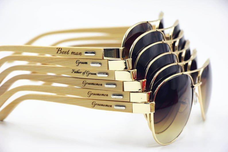 Aviator sunglasses personalized unisex sunglasses bachelor