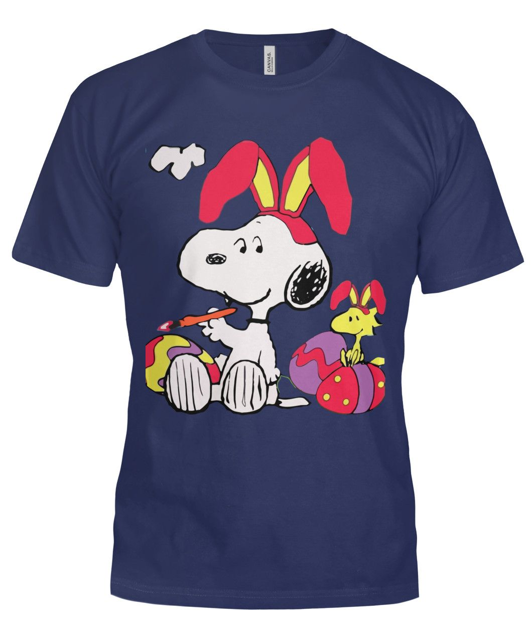 Peanuts Snoopy Woodstock Easter Eggs Spring Cute Unisex Kids Tee Youth T-Shirt