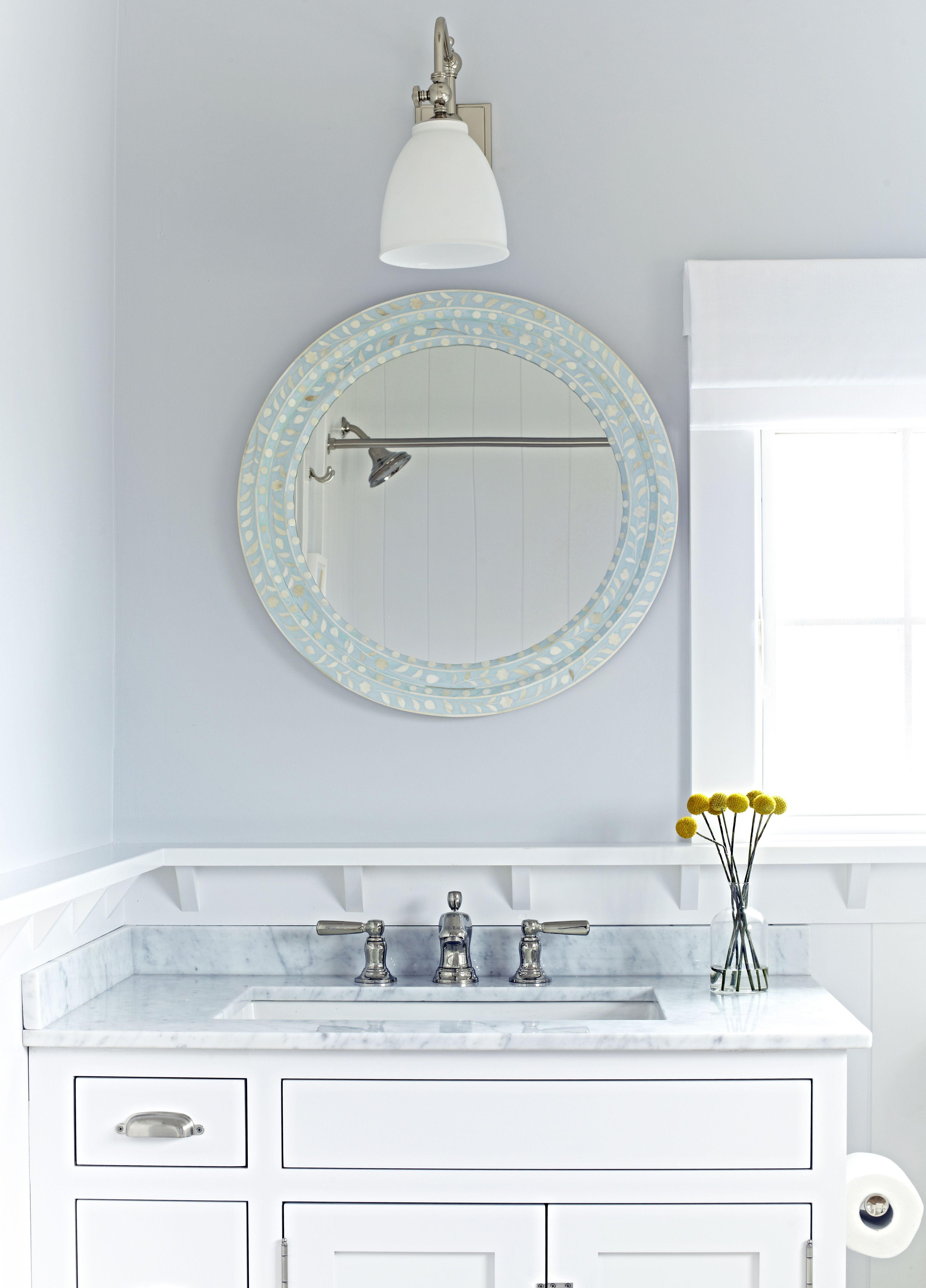 Bay Head Beach Bungalow -- Bathroom Mirror & Sconce --