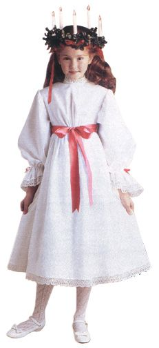 American Girl Doll KIRSTEN Woven Red St Lucia Hair Ribbons AG