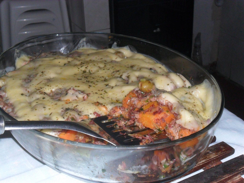 Receita de Carne seca com abóbora.