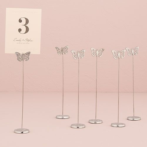 Butterfly Wedding Stationery Table Number Holder Love And Paperie