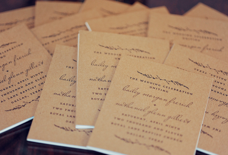 Super Couverture Livret de Messe en papier Kraft ! | My wedding's ideas  TY64