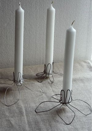 Diy Folk Wire Work Candle Holders Wire Candle Holder Diy Wire