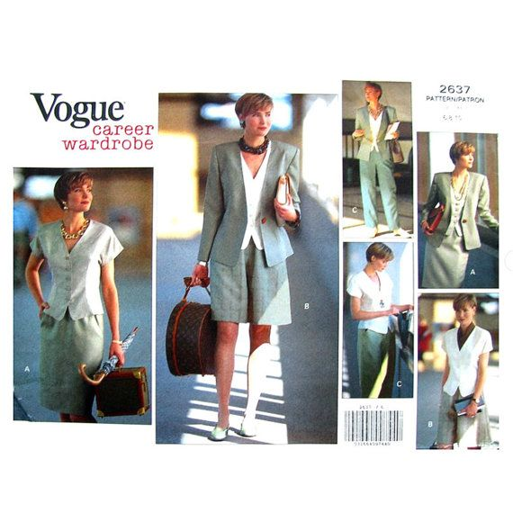 Womens Wardrobe Pattern Vogue 2637 Jacket by finickypatternshop
