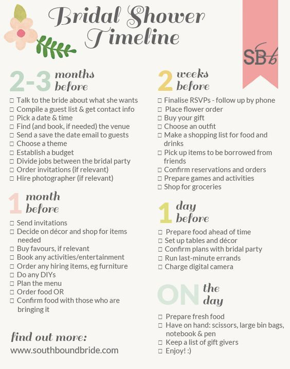 southbound guide how to plan the perfect bridal shower plus printable